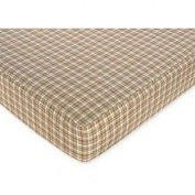 JoJo Designs Construction Zone Fitted Crib Sheet - Plaid Print Multi
