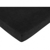 Minky Dot Black Fitted Crib Sheet Microsuede by JoJo Designs