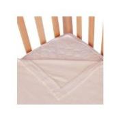 Clouds and Stars Quickzip Crib Zipper Sheet White Mink