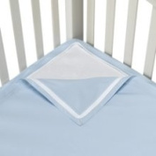 QuickZip Easy Change Crib Sheet With Wraparound Total Security Base, Blue
