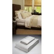 Home Source International 50500TWW01 - Bamboo Twin Flat Sheet White 100% Bamboo Colour