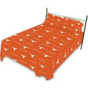 College Covers Texas Longhorns Printed Sheet Set - Twin - Solid