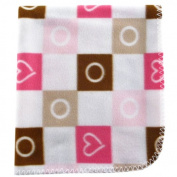 Luvable Friends Printed Fleece Blanket - Pink