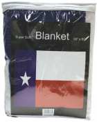 Texas State Flag Print Fleece Blanket   GFLGBTX