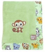 Trend-Lab 102069 Framed Chibi Zoo Receiving Blanket