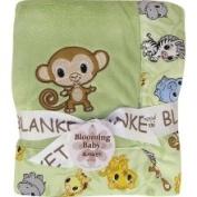 Trend Lab 102155 Receiving Blanket- Framed Chibi Zoo