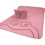 Modern Basics Boo Frog Baby Blanket in Pink Size