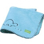 Ambajam Mini Cuddle Baby Blanket - Berry Berry Blue with Navy Trim