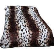 College Covers 363LEO Leopard Print Throw Blanket - Bedspread