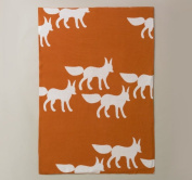 DwellStudio Graphic Knit Blanket Foxes One Size