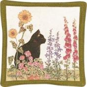 Alice's Cottage Black Cat Single Mug Mat - ACS1114