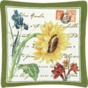 Alice's Cottage Flower Postcard Single Mug Mat - ACS11424