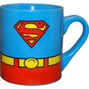Silver Buffalo Superman DC Comics Costume Superhero Ceramic Coffee Mug