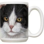 Fiddlers Elbow FEC71 Black & White Cat 15 oz Mug