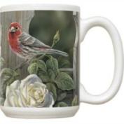 Fiddlers Elbow FEC990 House Finch & Roses 440ml Mug