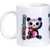 Summit Furry Bones Skull Pandie Panda Bear Tea Coffee Mug Cup