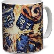 Doctor Who (Van Gogh Exploding Tardi) Mug