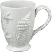 Sadek Nautical Ocean Beach Embossed White Shell Coffee Latte Mug