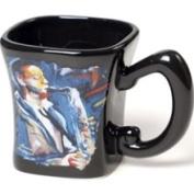 Stealstreet Black Ceramic Coffee Mug with Jazz Blues Saxophone Musician Decoration