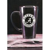 Alabama Crimson Tide 470ml Deep Etched Black Ceramic Java Mug Campus Crystal