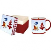 Ceramic Mug - Cheers & Happy Holidays - with Gift Box