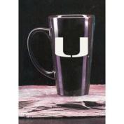 Miami Hurricanes 470ml Deep Etched Black Ceramic Java Mug Campus Crystal
