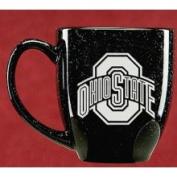Ohio State Buckeyes 440ml Deep Etched Black Bistro Mug Campus Crystal