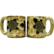 Creative Structures One 1 Mara Stoneware Collection - 470ml Coffee Cup Collectible Dinner Mug - Southwest Desert Turtle