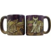 Creative Structures One 1 Mara Stoneware Collection - 470ml Coffee Cup Collectible Mug - Desert Cactus Coyote Design