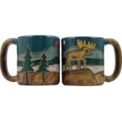 Creative Structures One 1 Mara Stoneware Collection - 470ml Coffee Cup Collectible Dinner Mug - Moose Design