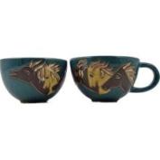 Mara Stoneware Soup/Latte Cup 650ml - Horses Green