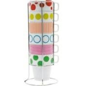 PT Cappuccino Set Dots & Stripes Tower, Porcelain
