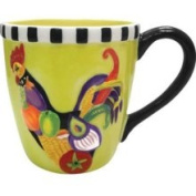 Stealstreet 10.2cm Rooster Salad Decorated Collectible Rooster Mug Holds 410ml
