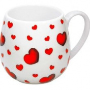 Konitz Little Hearts Snuggle Mugs (Set of 4) (Konitz Snuggle Mugs Little Hearts