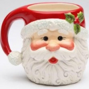 Stealstreet I Believe Santa Claus Shaped/designed Mug Set of 4 Collectible