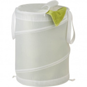 Honey-Can-Do HMP-01130 Medium Nylon Pop Open Hamper - White