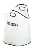 Premier Housewares Nylon Laundry Bag with 2 Handles - Cream