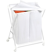 Honey-Can-Do HMP-01386 Rolling Laundry Sorter With Removable Bag, Two Bag