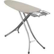 Household Essentials Fibertech Mega Top 4-Leg Aluminium Ironing Board with Natural Cotton Cover