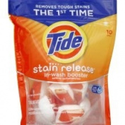 Tide Stain Release In-Wash Booster, Ultra Concentrated - 10 pacs [7.7 oz (220 g)]