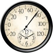 Taylor 91575 14 in. Decorative Thermometer With Clock