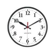 Chaney 00960 Indoor-Outdoor Black Basic Clock