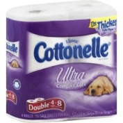 Cottonelle Ultra Comfort Care Toilet Paper, Double Rolls, 2-Ply - 4 rolls