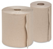 Genuine Joe Hard Wound Roll Towel, 800ft x 7.88 - Natural, Price/CT