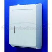 Tolco Corp White Enamel Centre Fold Towel Dispenser 230109