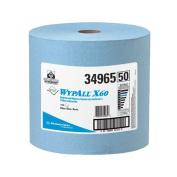 WYPALL X60 Wipers, Jumbo Roll, 12 1/2 x 13 2/5, Blue, 1100/Roll