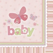 Amscan 152622 Carters Baby Girl Lunch Napkins