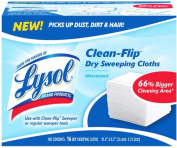 Lysol Clean-Flip Dry Mopping Cloths, Unscented - 16 cloths