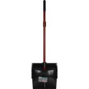Libman Brooms & Mops 30cm . Lobby Broom and Open Lid Dust Pan Black 919
