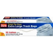Presto Products Do It Best Clear Trash Bag, 10ct 124.9lTrash Bag, Mfr